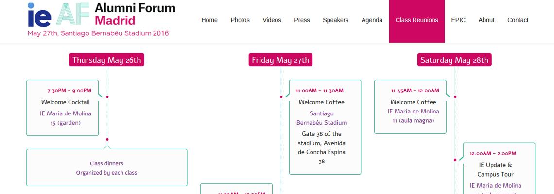Diseño web para evento
