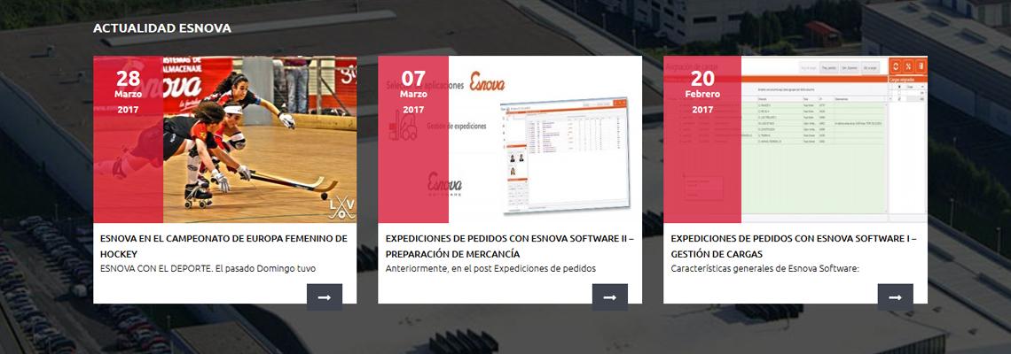 Gesimde, diseño web para Esnova