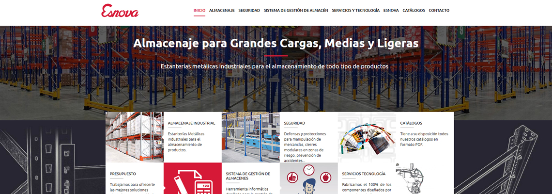 Diseño web empresa asturiana Esnova