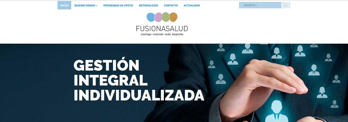 Fusiona salud - Diseño web Wordpress