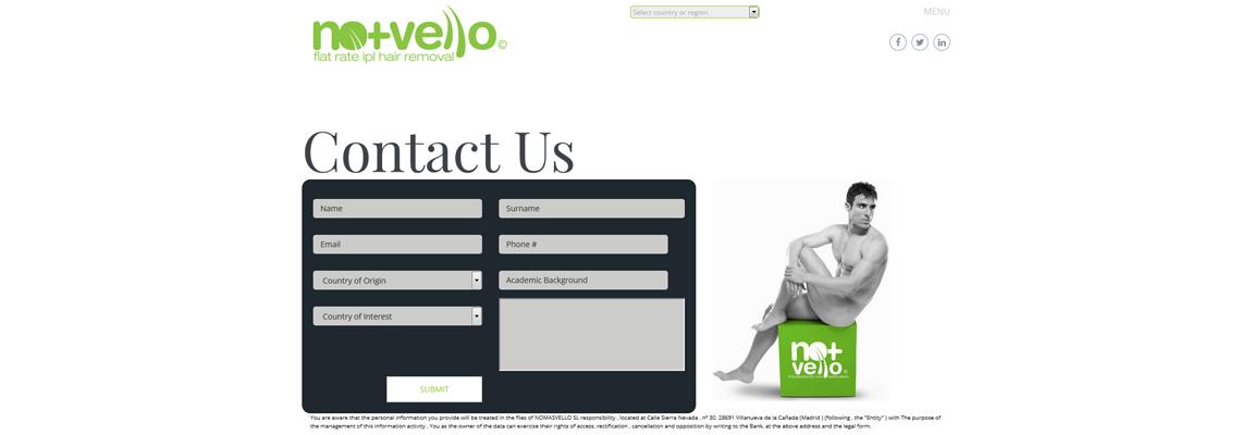 Formulario web - Internacional