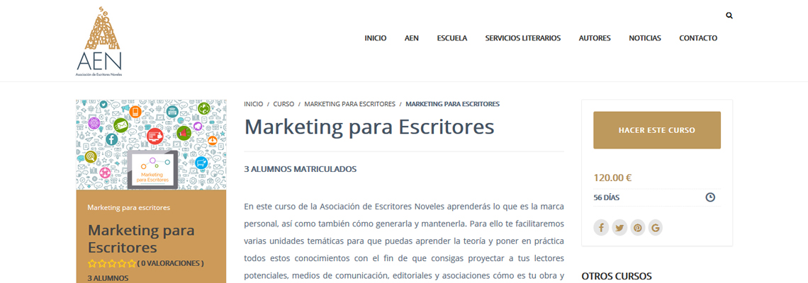 Curso MArketing Online para Escritores