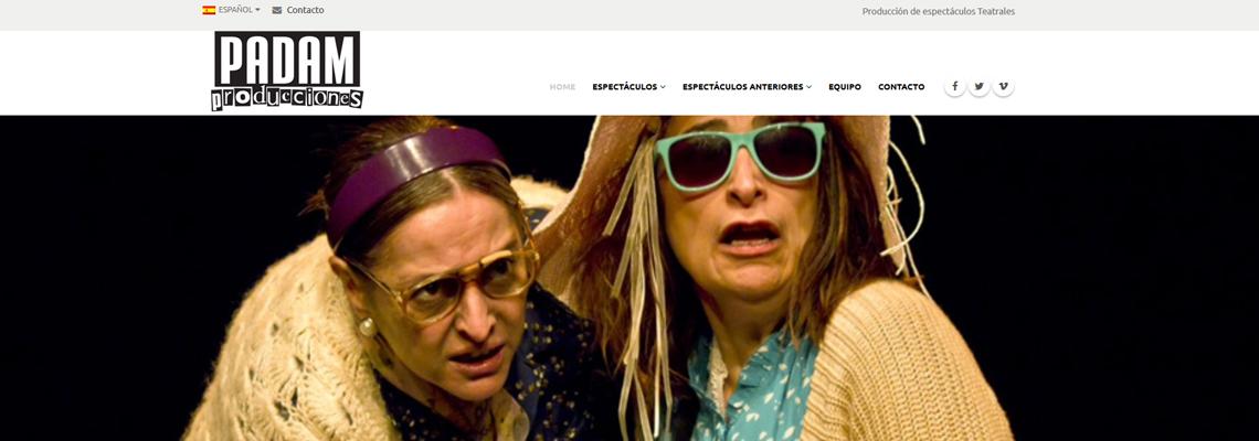 Diseño Web Padam Teatro