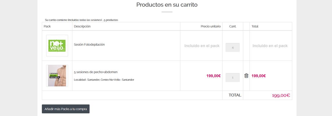 Carrito tienda online Gesimde