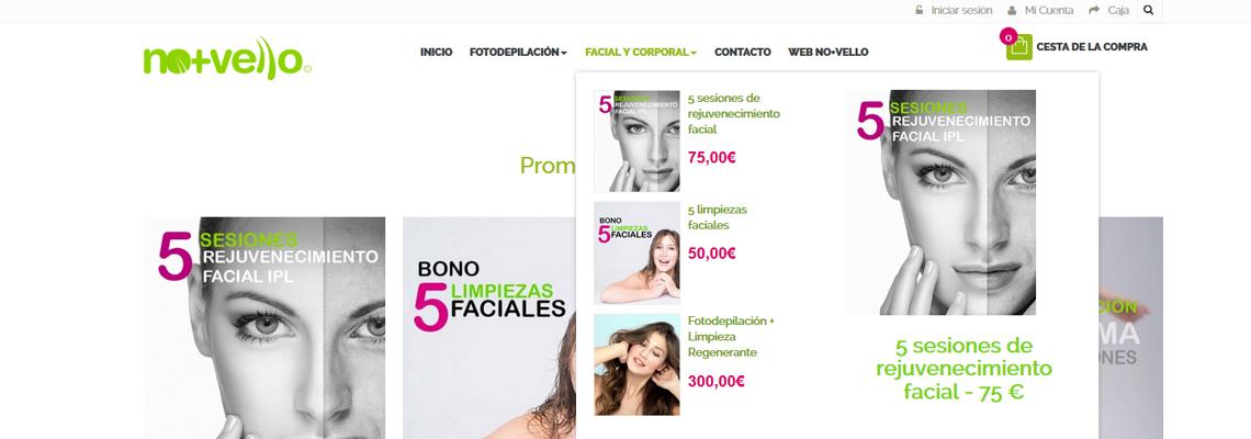 Tienda Online No+Vello de Prestashop