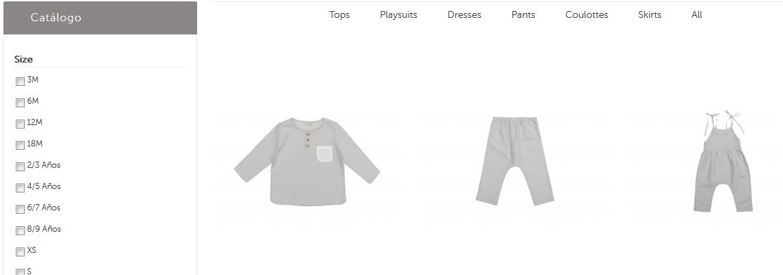 Tienda online infantil